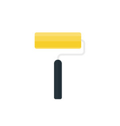 In flat style paint roller vector