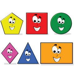 learning shapes vector image vector image