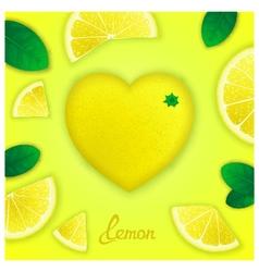 Lemon art composition vector