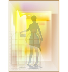 mannequin in a shop window vector image