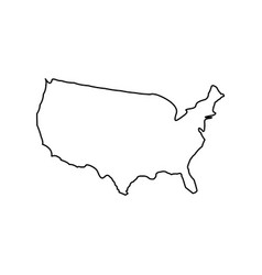 Map of america black color icon vector