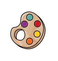 paint palette symbol vector image
