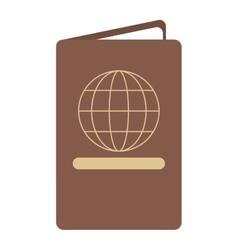 Passport identication document travel vector