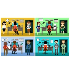 People in the style flat design vector
