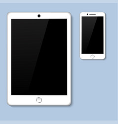 realistic 3d tablet with blank screen isolated vector image