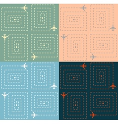Simple aircraft pattern vector