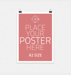 Template of frame with poster placed vector