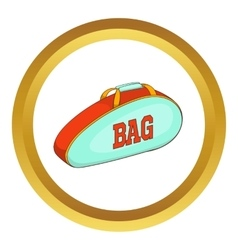 Tennis bag icon vector