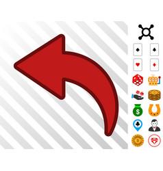 Undo icon with bonus vector