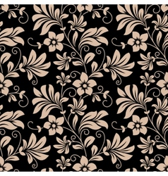 Vintage floral wallpaper seamless pattern vector