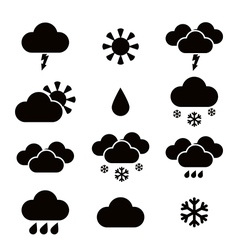 Weather simple icons vector image