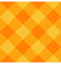 Yellow Orange Diamond Chessboard Background vector image vector image