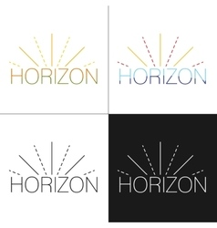 Abstract horizon logo template vector