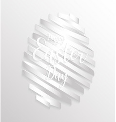 Happy easter day design egg ribbon banner vector