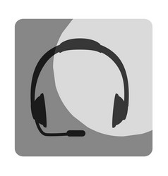 Headset call center device vector