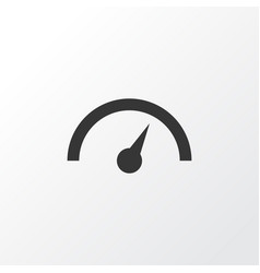 Speedometer icon symbol premium quality isolated vector