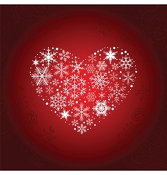 Heart of Snowflakes vector image