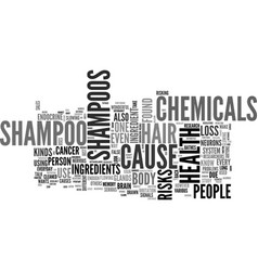What s in your shampoo text word cloud concept vector