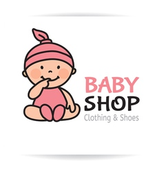 Baby shop logo vector