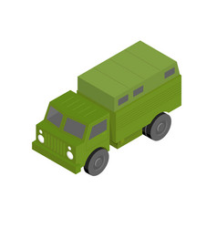 3d isometric military truck vector