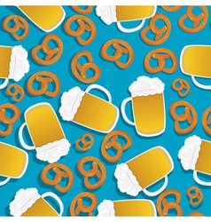 Beer and pretzels vector
