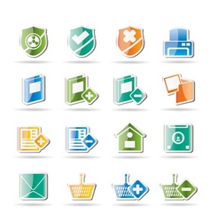 Internet and website buttons vector