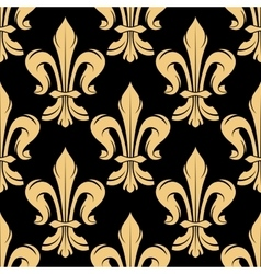 Black and golden fleur-de-lis pattern vector