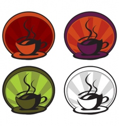 A hot cup of coffee vector