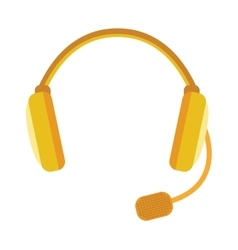 Radio headphones  webinar tool vector