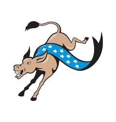 Donkey jackass jumping democrat vector