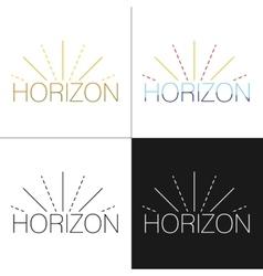 Abstract horizon logo template vector