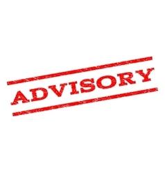 Advisory Watermark Stamp vector image vector image