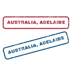 Australia adelaide rubber stamps vector