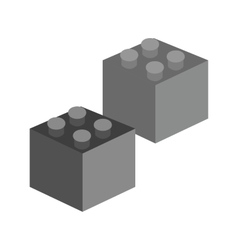 Blocks I vector image