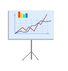 business chart on stand isolated vector image vector image