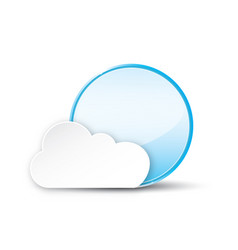 Circle with cloud on white background vector