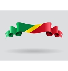 Congolese wavy flag vector image vector image