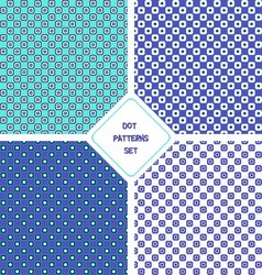 Dot patterns set vector
