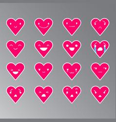 Emoticons heart color 20 vector