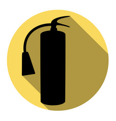 fire extinguisher sign flat black icon vector image