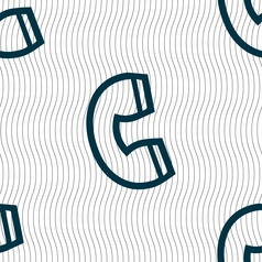 handset icon sign Seamless pattern with geometric vector image vector image