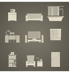 Icons for apartment vector image vector image