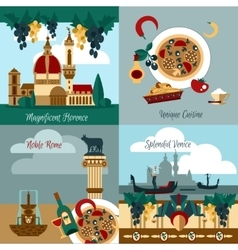 Italy Touristic Set vector image vector image