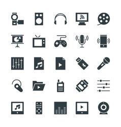 Multimedia cool icons 4 vector