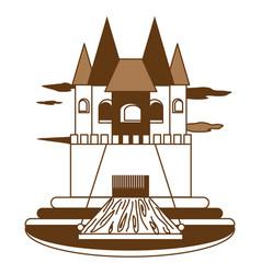 princess castle icon vector image