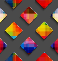 Rainbow colored rectangles on gray seamless vector