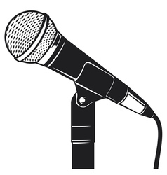 retro microphone with stand vector image