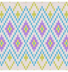 Seamless Pattern Knit Ornament Texture vector image vector image