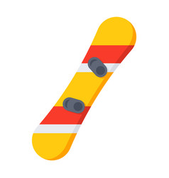 Snowboard with bindings vector