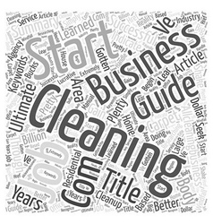 Ultimate guide to start a successful cleaning vector